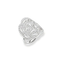 Thomas Sabo Sterling Silver Rose Ring image