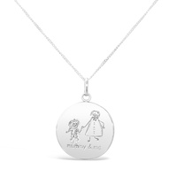 Sterling Silver Mother And Son Necklace image