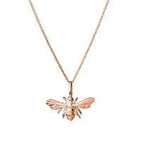 Sterling Silver Rose Gold Plated Chain With Bumble Bee Pendant image