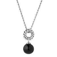 Najo Sterling Silver Fateful Onyx Necklace image