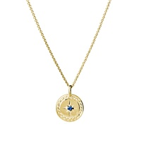 Gold Plated Sterling Silver Blue Cz Necklace image
