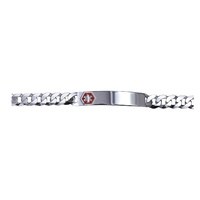 Sterling Silver Medical ID 19cm Bracelet image
