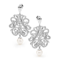 Silver Spellbound Pearl Earrings image