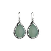 Najo Sterling Silver Aqua Chalcedony Hook Earrings image