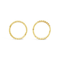 Yellow Gold Plated 20mm Patterned Sleepers image
