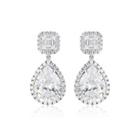 Georgini Liandra Silver CZ Teardrop Earrings image