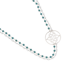 Najo Turquoise & Clear Quartz Necklace image