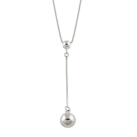Von Treskow Box Chain Drop Necklace With Silver Ball image