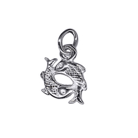 Sterling Silver Pisces Zodiac Charm image