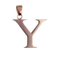 Rose Plated Stainless Steel Letter Y Pendant image