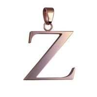 Rose Plated Stainless Steel Letter Z Pendant image
