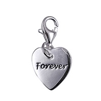 Sterling Silver Heart Forever Charm image