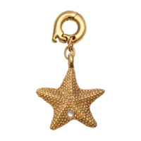 Nikki Lissoni Brass Gold Plated Starfish Charm image