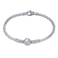 Sterling Silver Braided Bracelet With Ball image