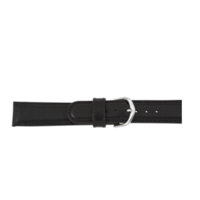 Black Padded Calf Leather Water Resistant Watch Strap image