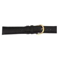 Black Heritage leather watch band image