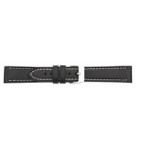 Black Leather Watch Strap image