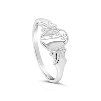 Sterling Silver Oval Signet Ring image
