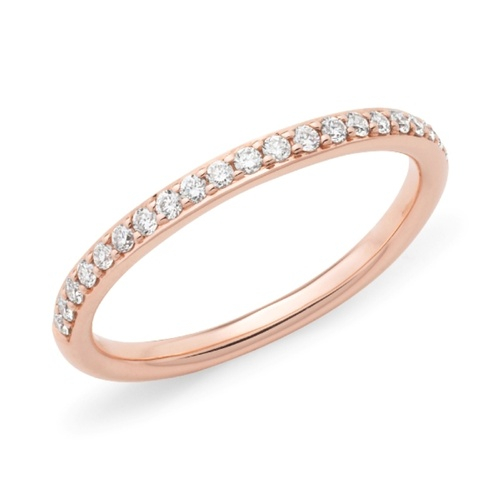 9ct Rose Gold Diamond Set Wedder