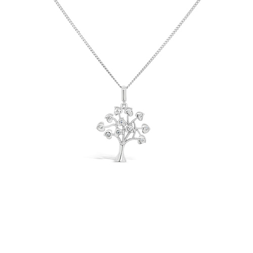 White Gold Tree of Life Pendant