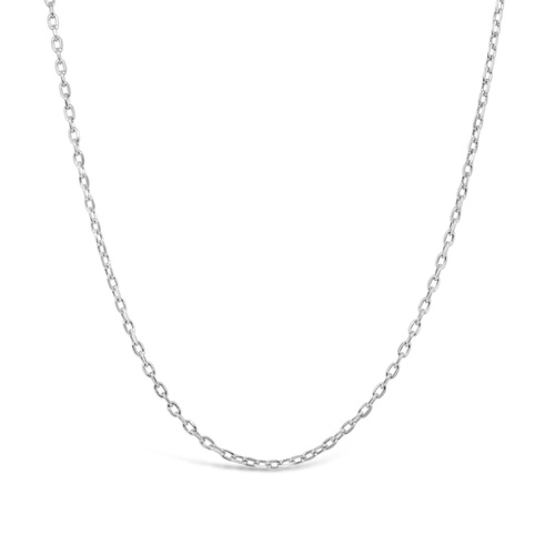 9ct White Gold Diamond Cut Cable Chain