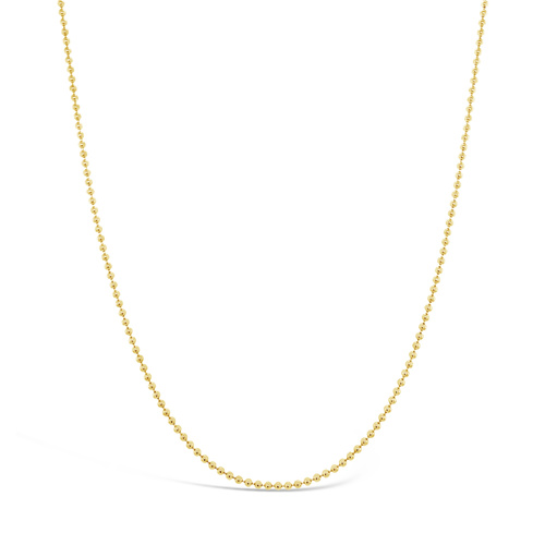 9ct Yellow Gold 45cm Ball Chain