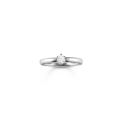 Thomas Sabo Sterling Silver Cubic Zirconia Solitaire Ring