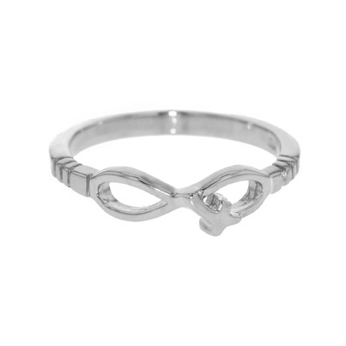 Sterling Silver Infinity with Cross Ring