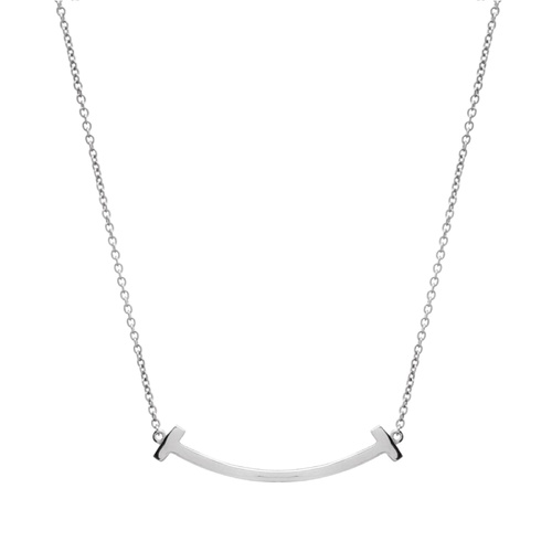 Sybella Silver Curved Bar Necklace