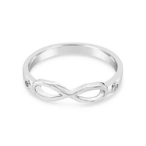 Sterling Silver Fine Infinity Ring