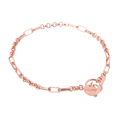 Najo Rose Plated York T-Bar Bracelet