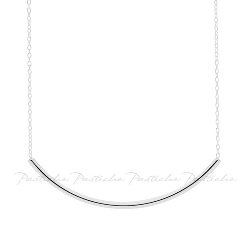 Pastiche Silver Tube Necklace