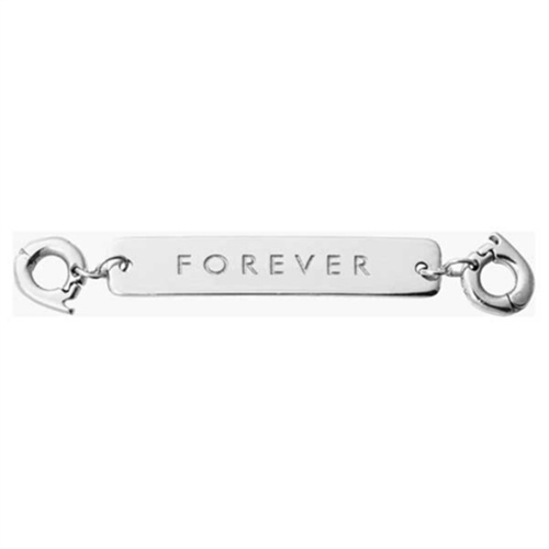 Nikki Lissoni Silver Plated 'Forever' Long Id Tag