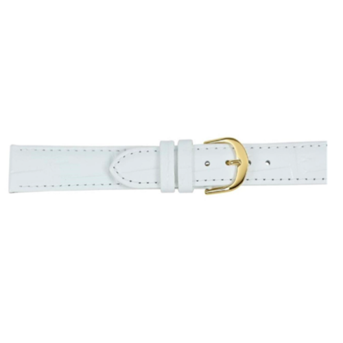 White Croc Leather Watch Band